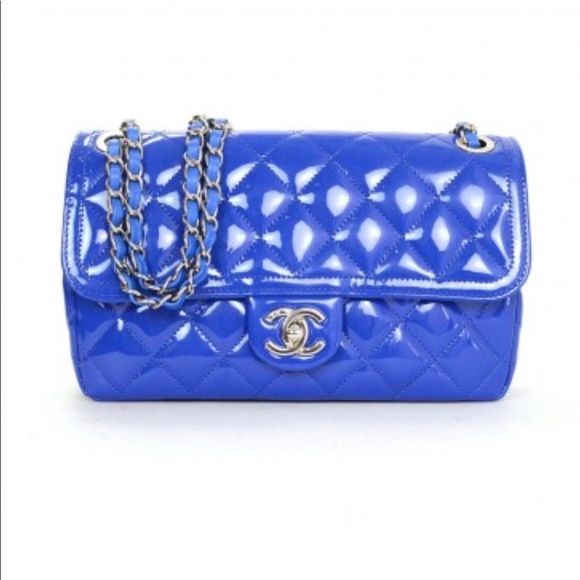 d710801b5725 CHANEL Bags | Cobalt Patent Leather Quilted Flap Bag | Poshmark